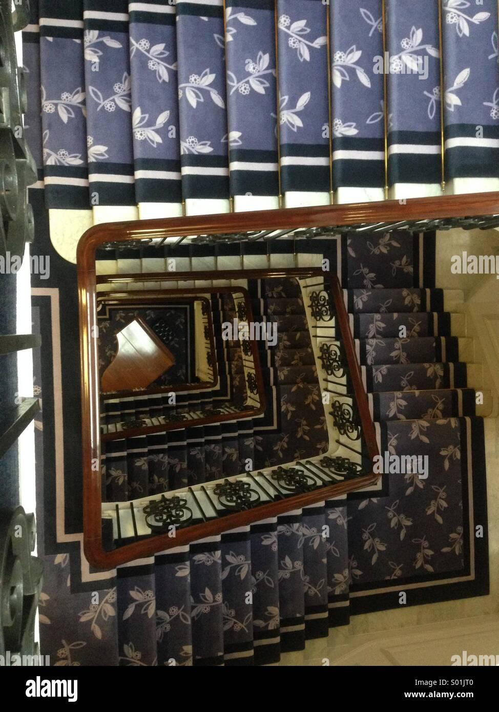 Dans les escaliers Photo Stock