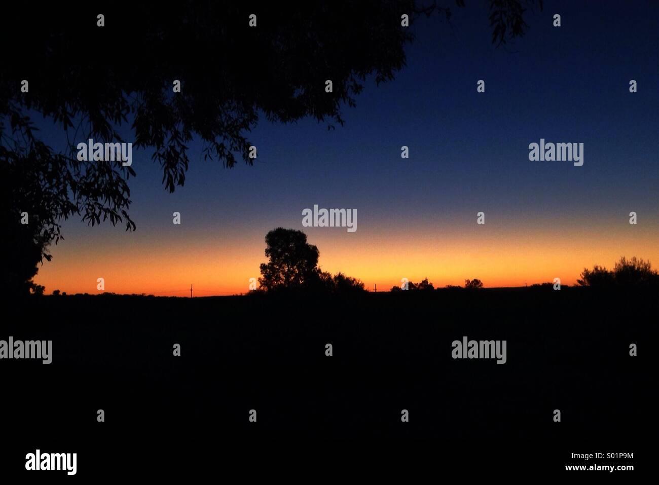 Il y va le soleil Photo Stock