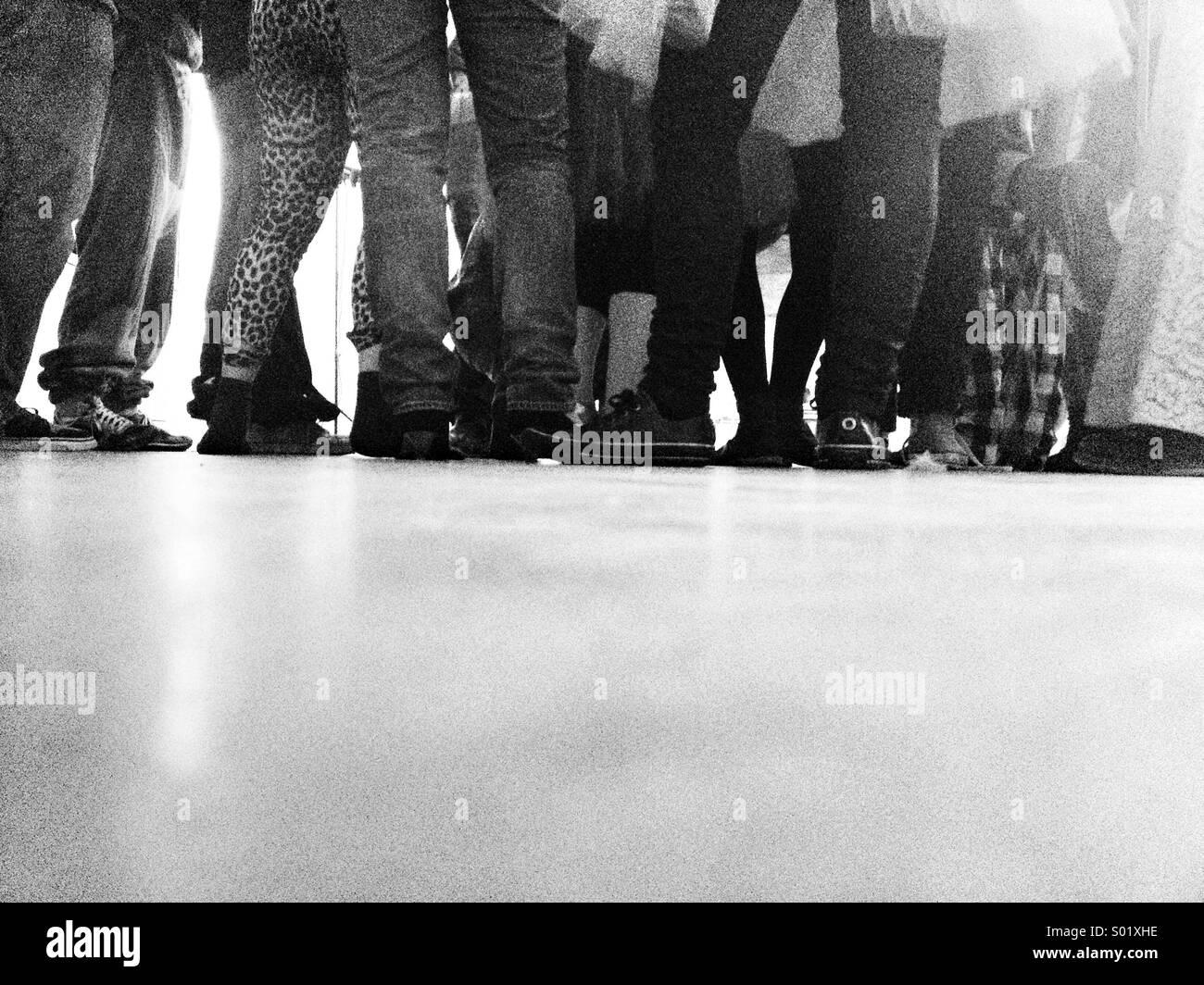 Rassemblement de personnes sur les jambes Photo Stock