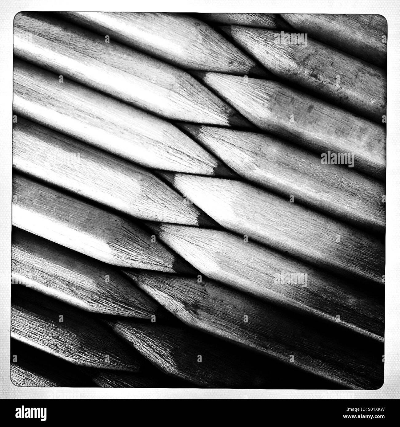 Crayons dans une rangée Photo Stock