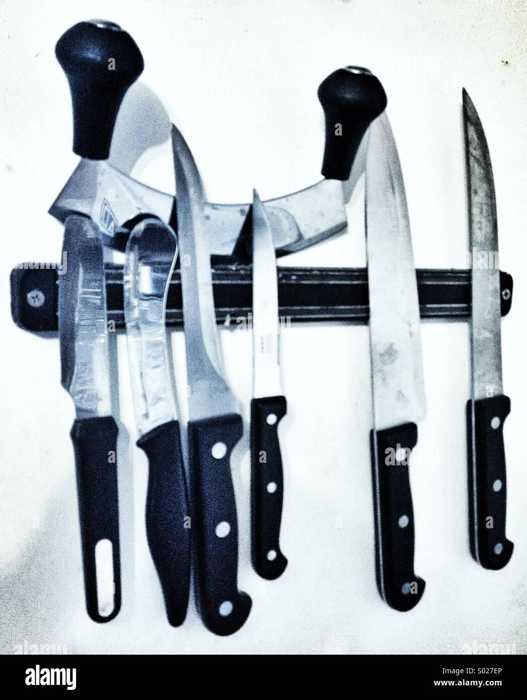 Couteaux de cuisine Photo Stock