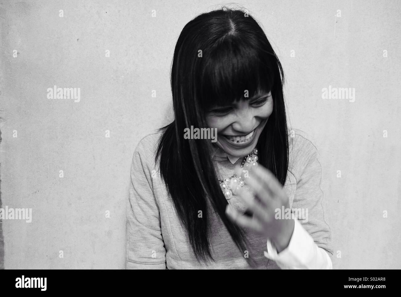 Le rire est un bon médicament. Photo Stock