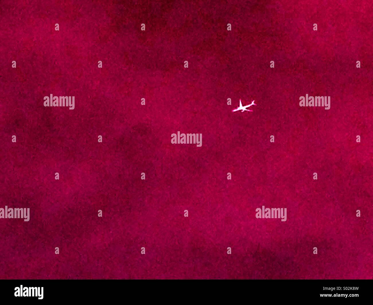 Forme de l'avion Photo Stock