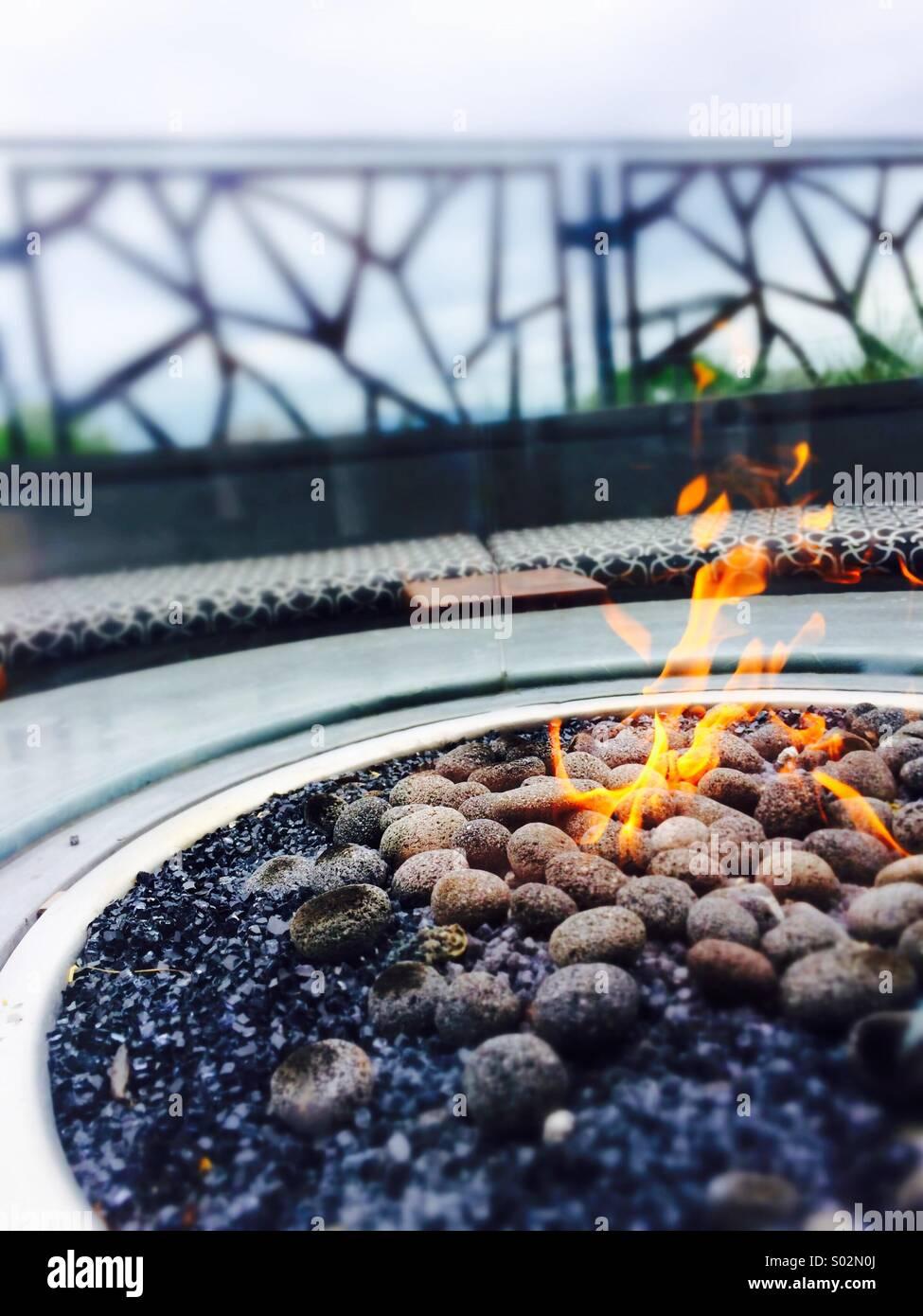 Puits du feu Photo Stock