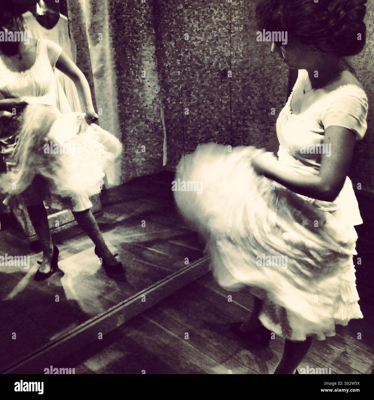 Mouvement robe de mariage Photo Stock