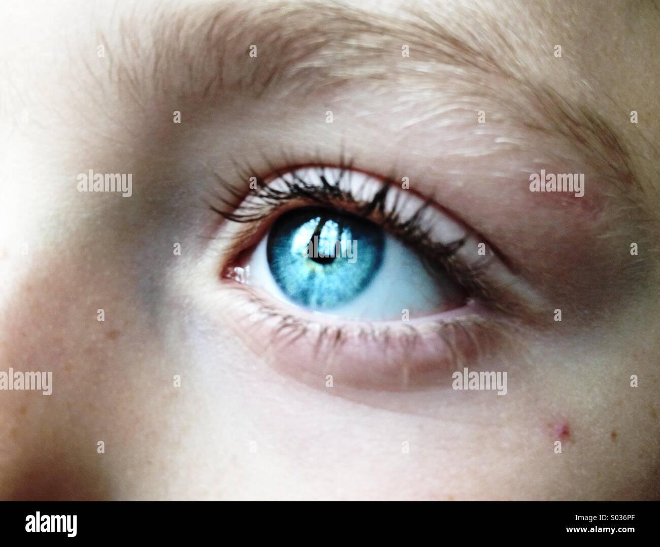 Enfant des yeux Photo Stock