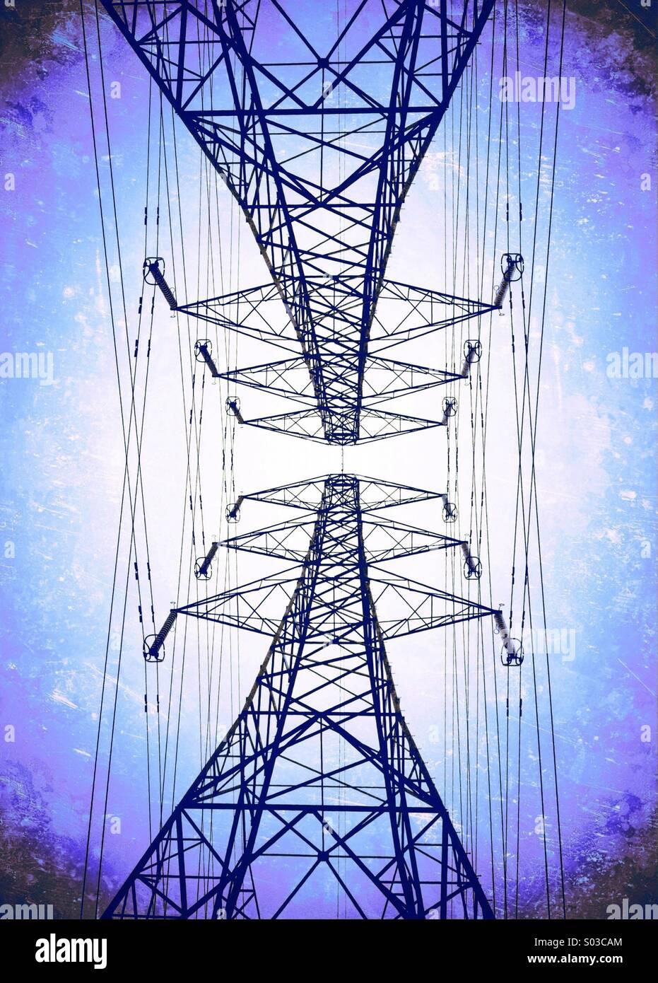 Paire de pylônes Photo Stock