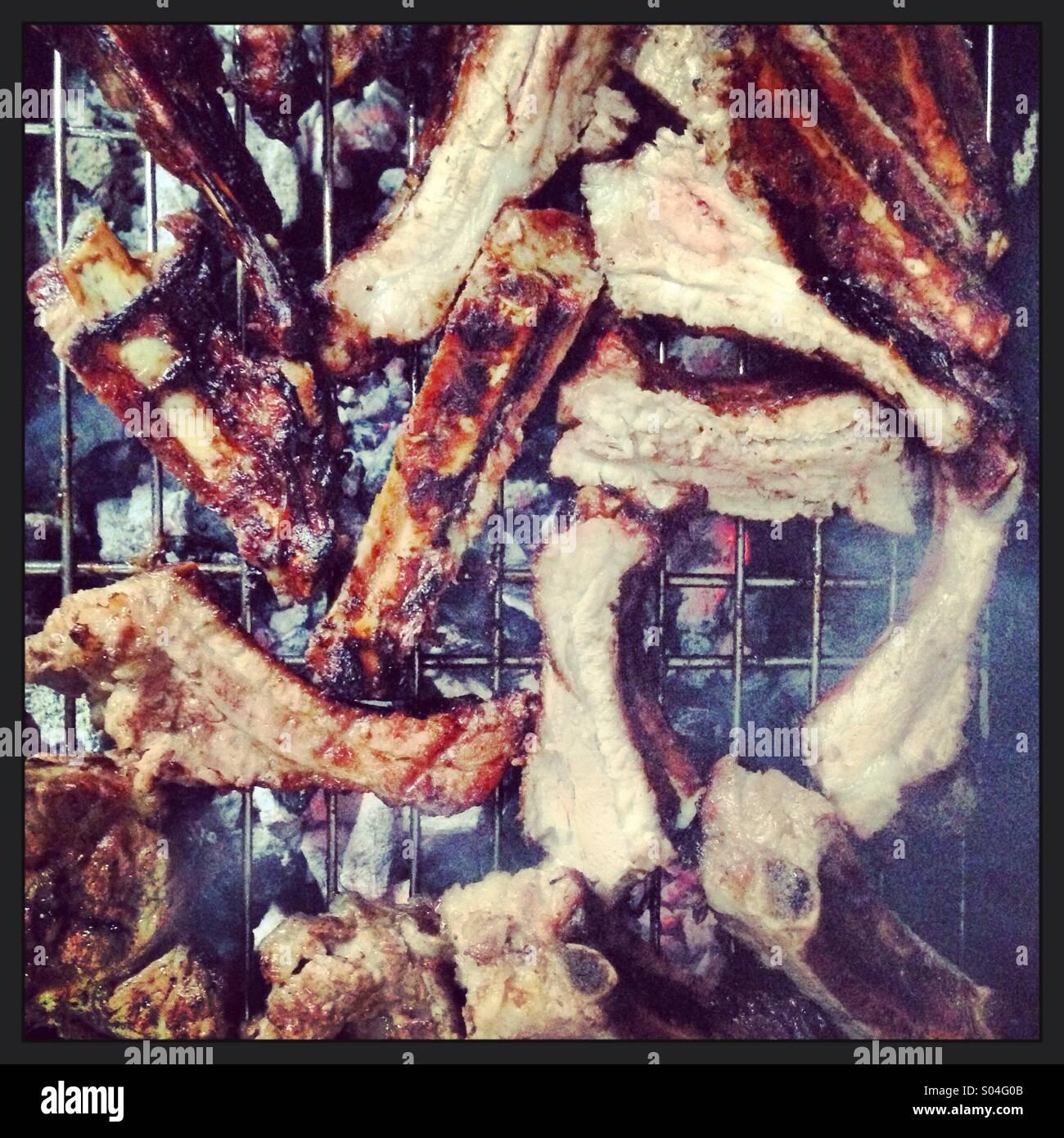 Viande de barbecue Photo Stock