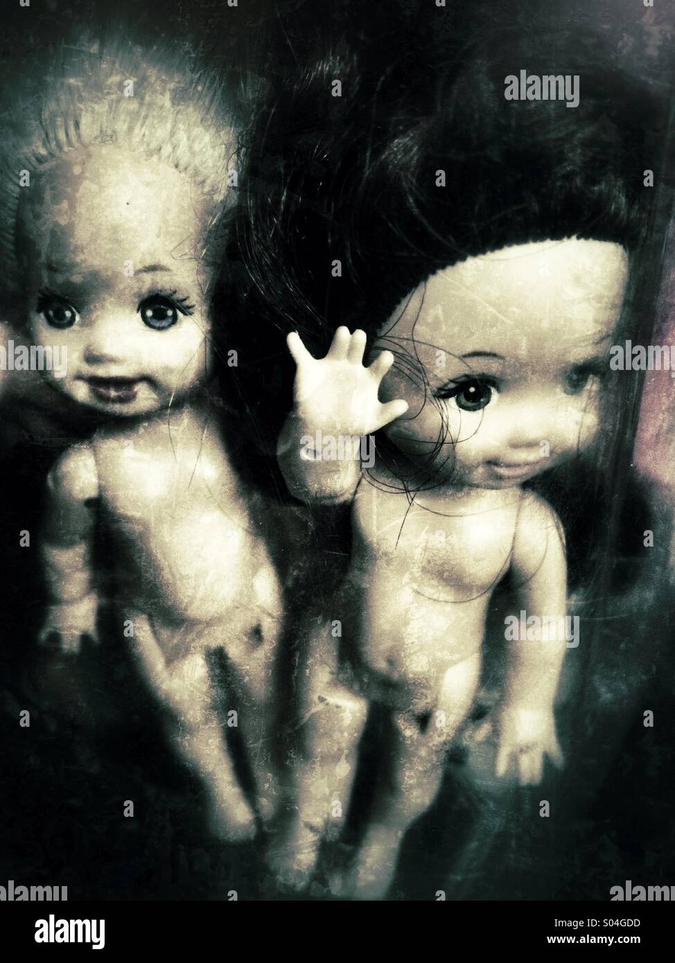 Petites Poupées creepy Photo Stock