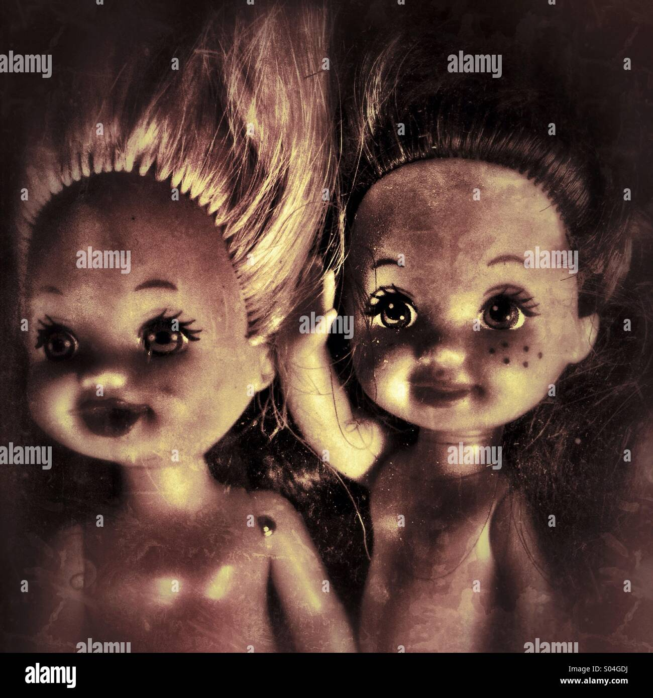 Petites Poupées creepy Photo Stock