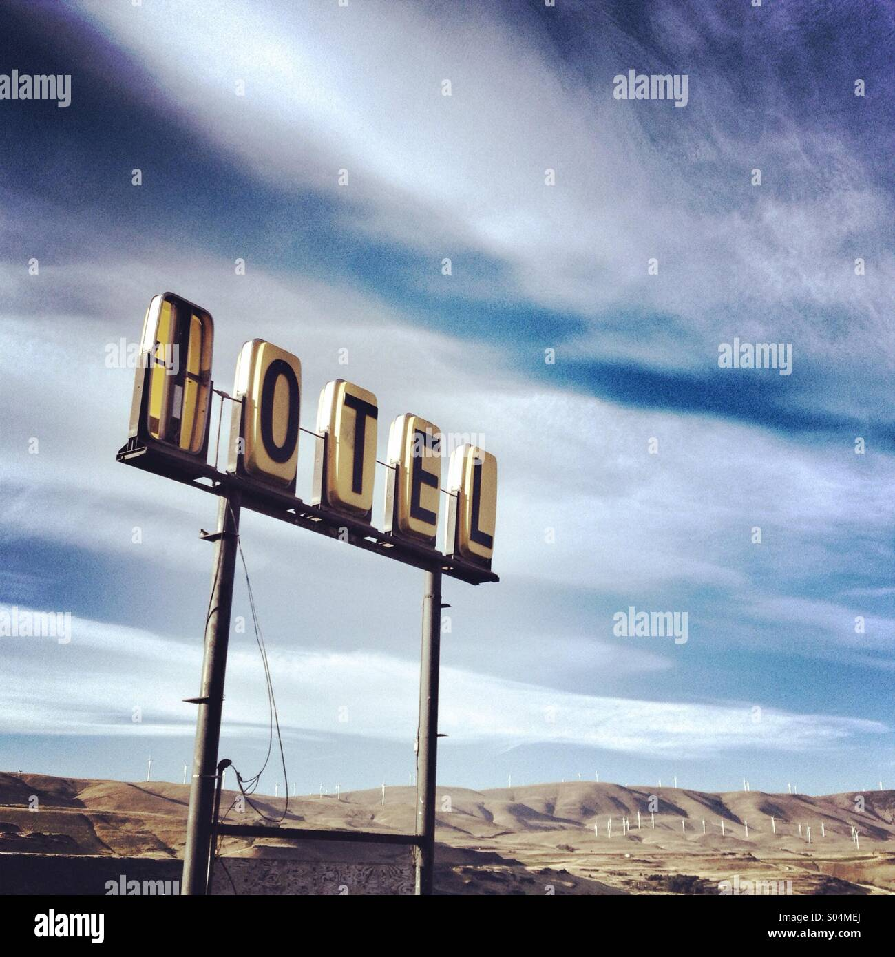 Vintage motel sign in Oregon Photo Stock