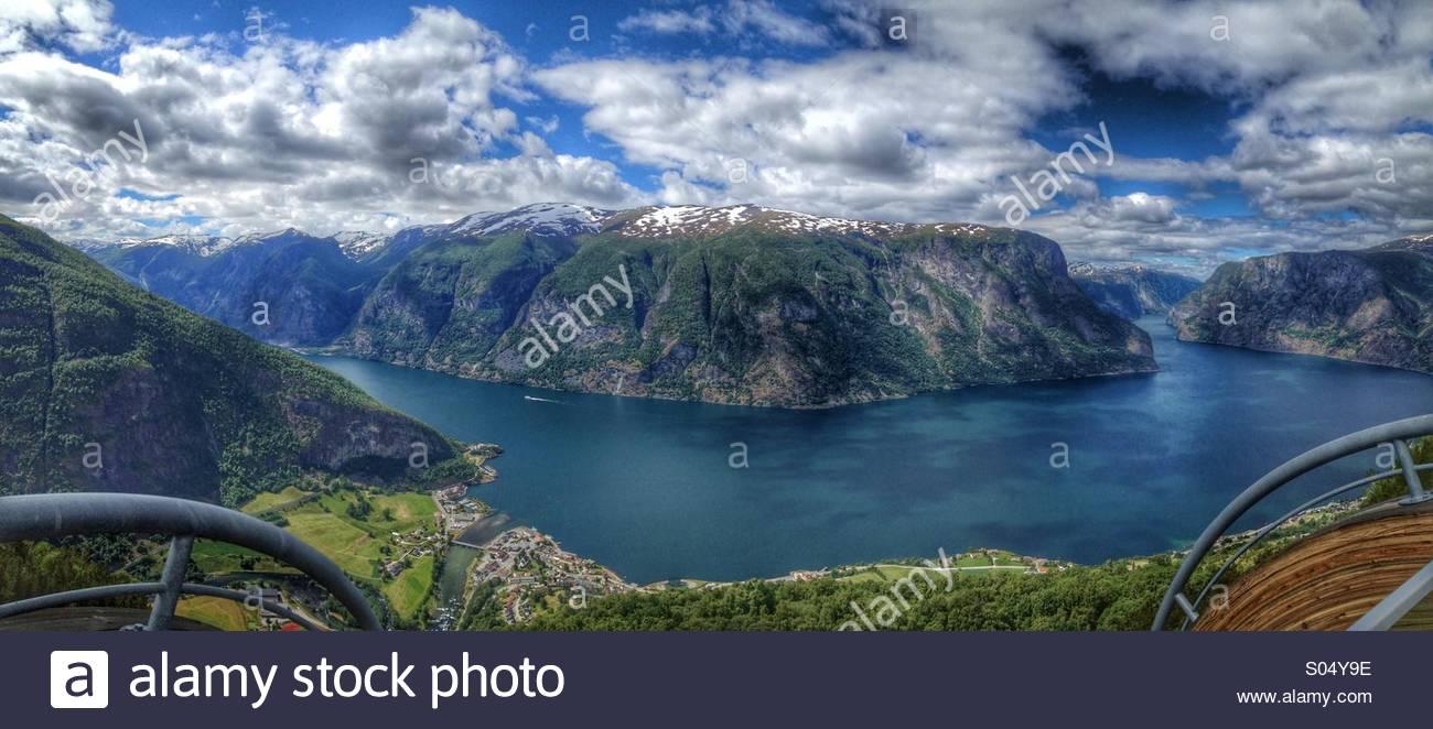 Aurland, Norvège, Photo Stock