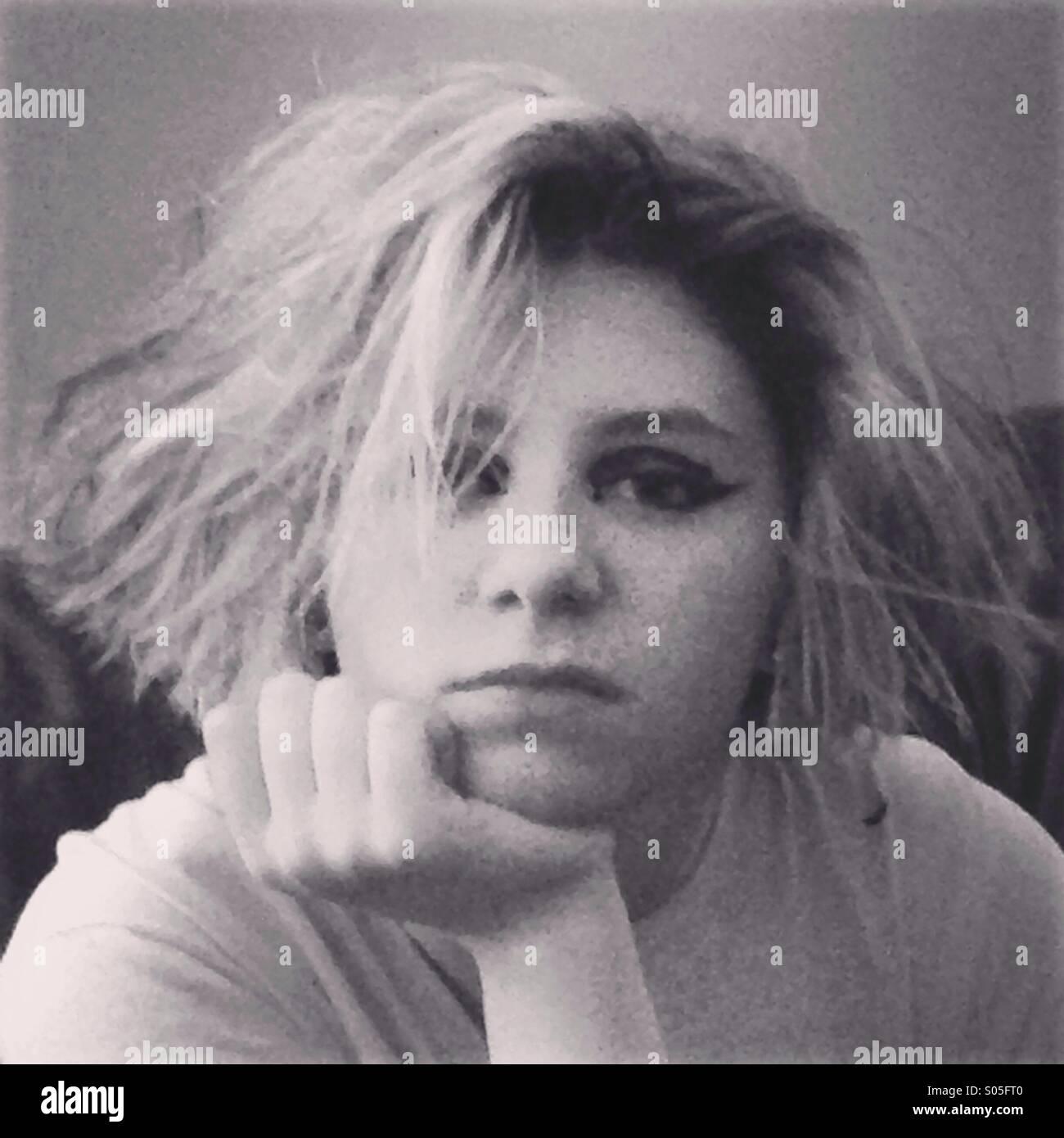 fille des années 80 Photo Stock