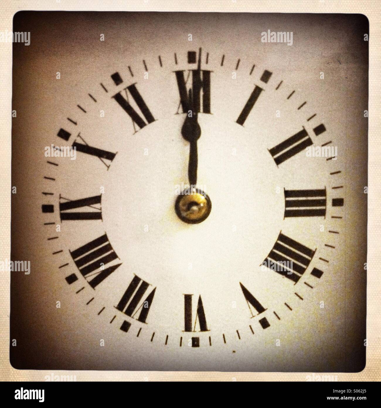 L'heure de minuit Photo Stock