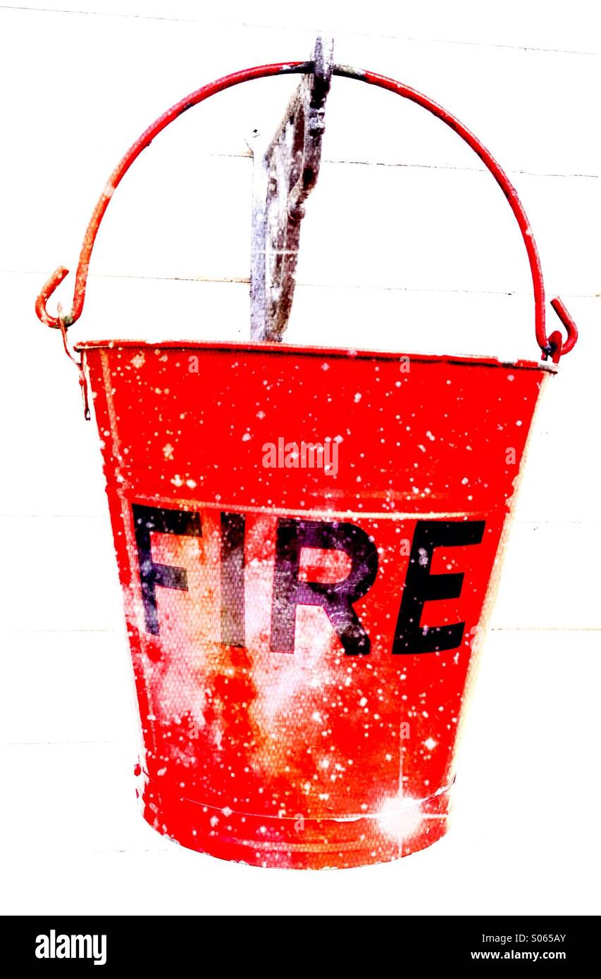 Close up of a fire bucket Photo Stock
