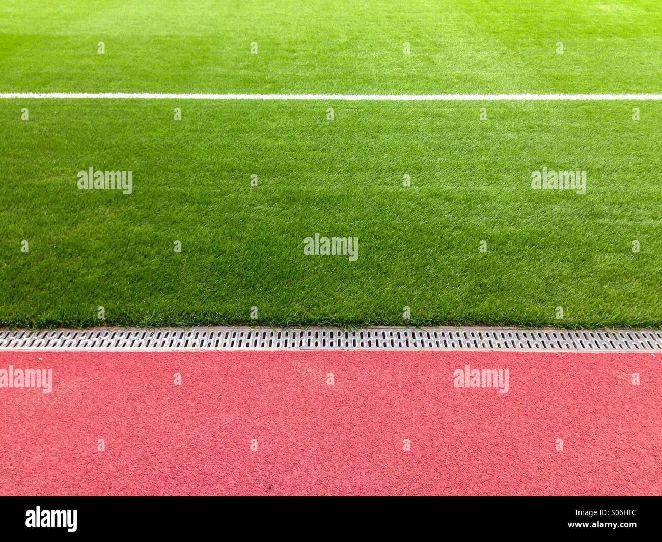 L'écart sur un terrain de football Photo Stock