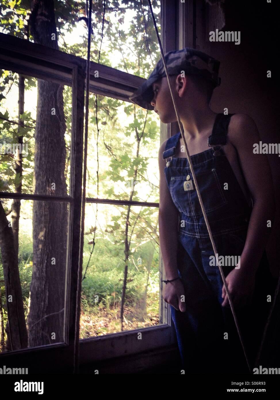 L'histoire d'une fenêtre... Photo Stock