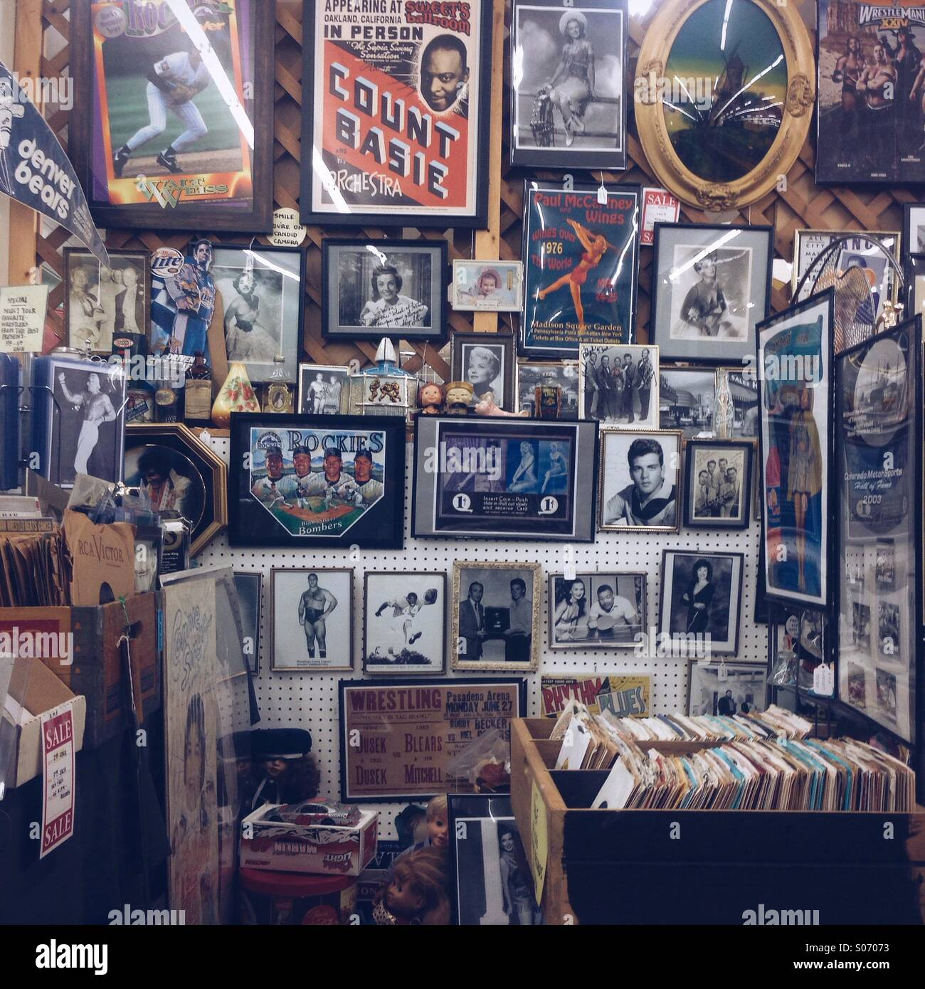Magasin d'antiquités Photo Stock