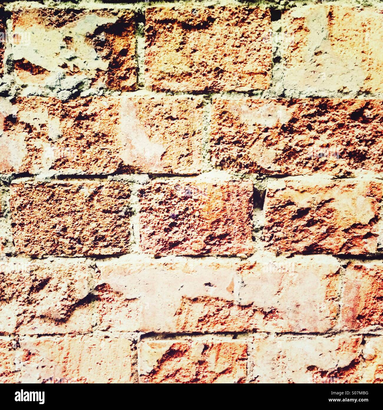 Mur de brique rouge Photo Stock