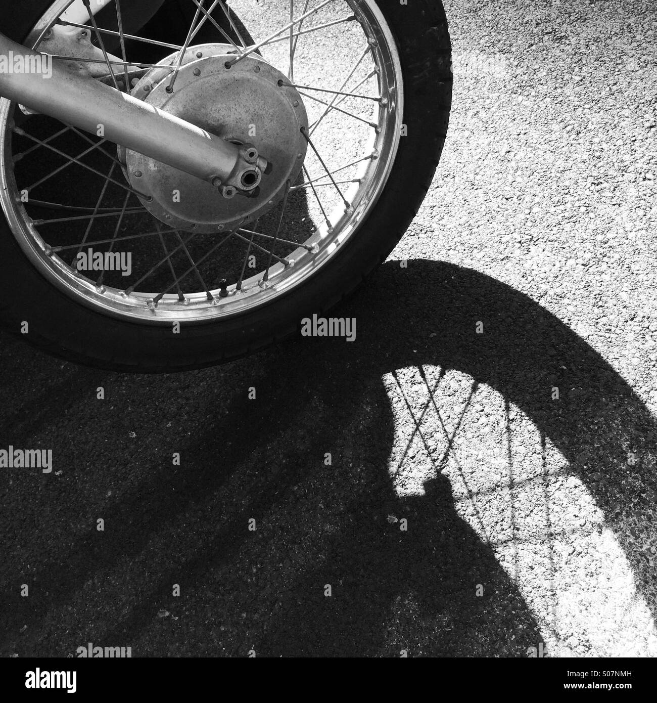 Roue & Shadow Photo Stock