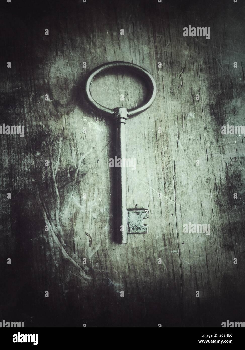 Ancienne clé Photo Stock