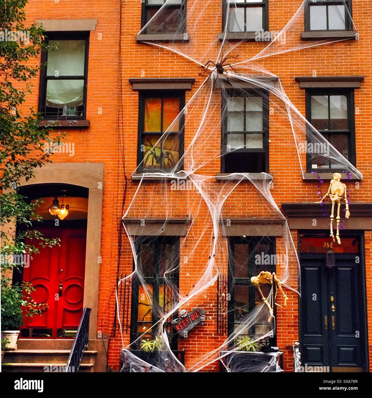 Décorations Halloween à Chelsea, New York City Banque D\'Images ...