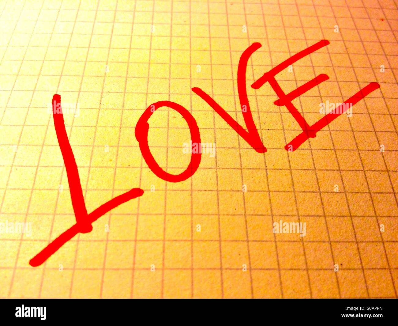 L'amour sur papier Photo Stock