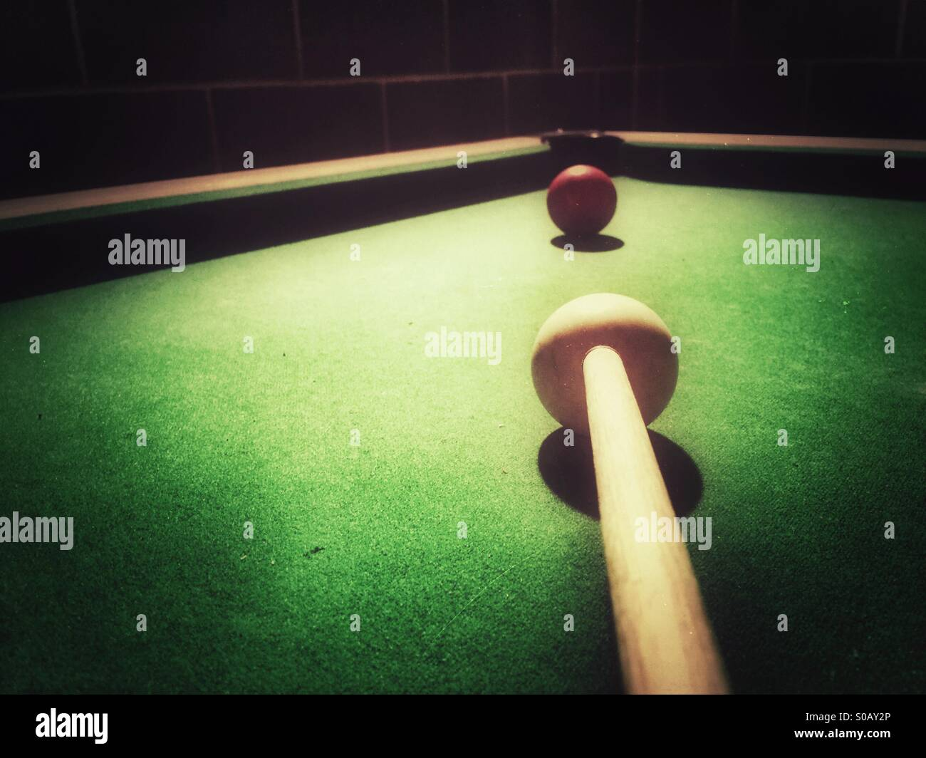Jeu de billard Photo Stock