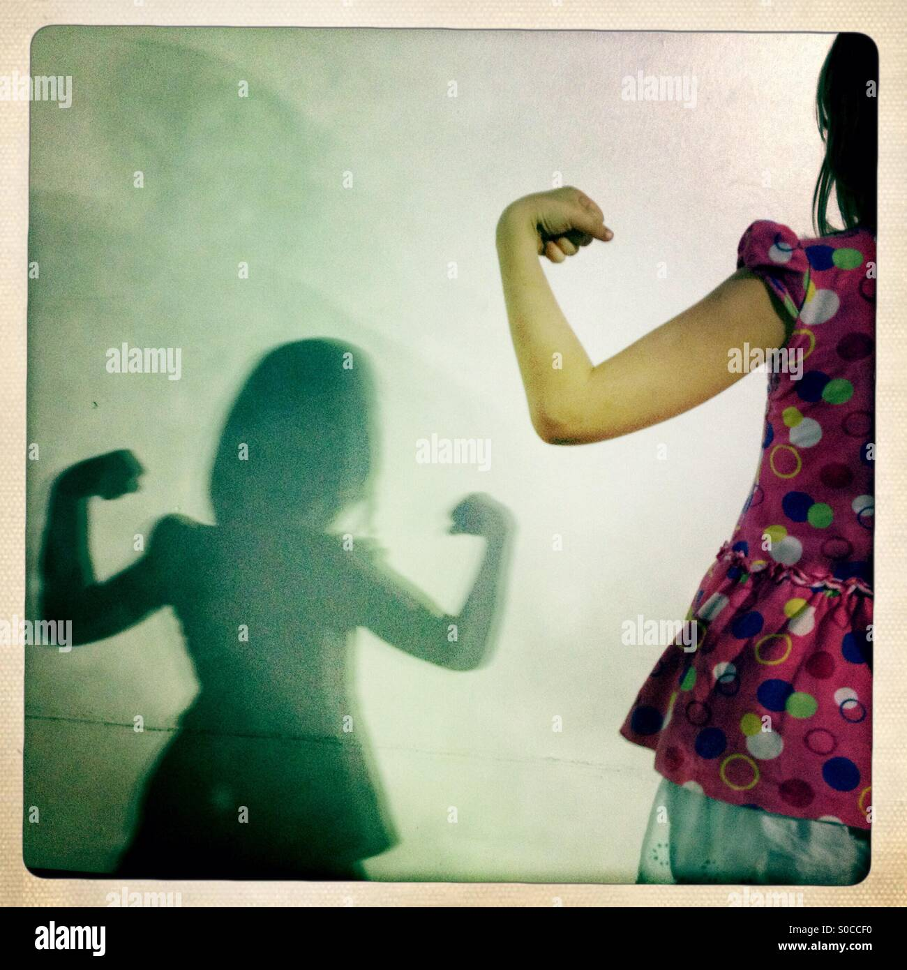 Strong girl Photo Stock
