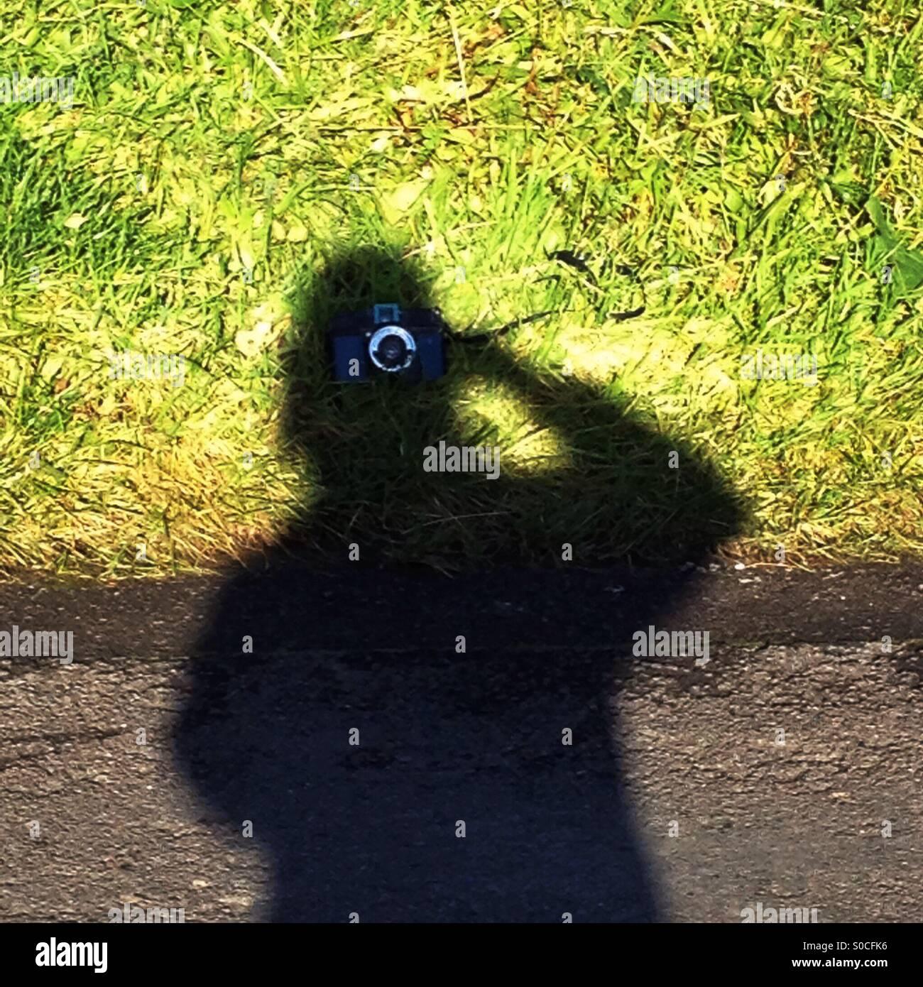 Prenez une photo de l'ombre Photo Stock