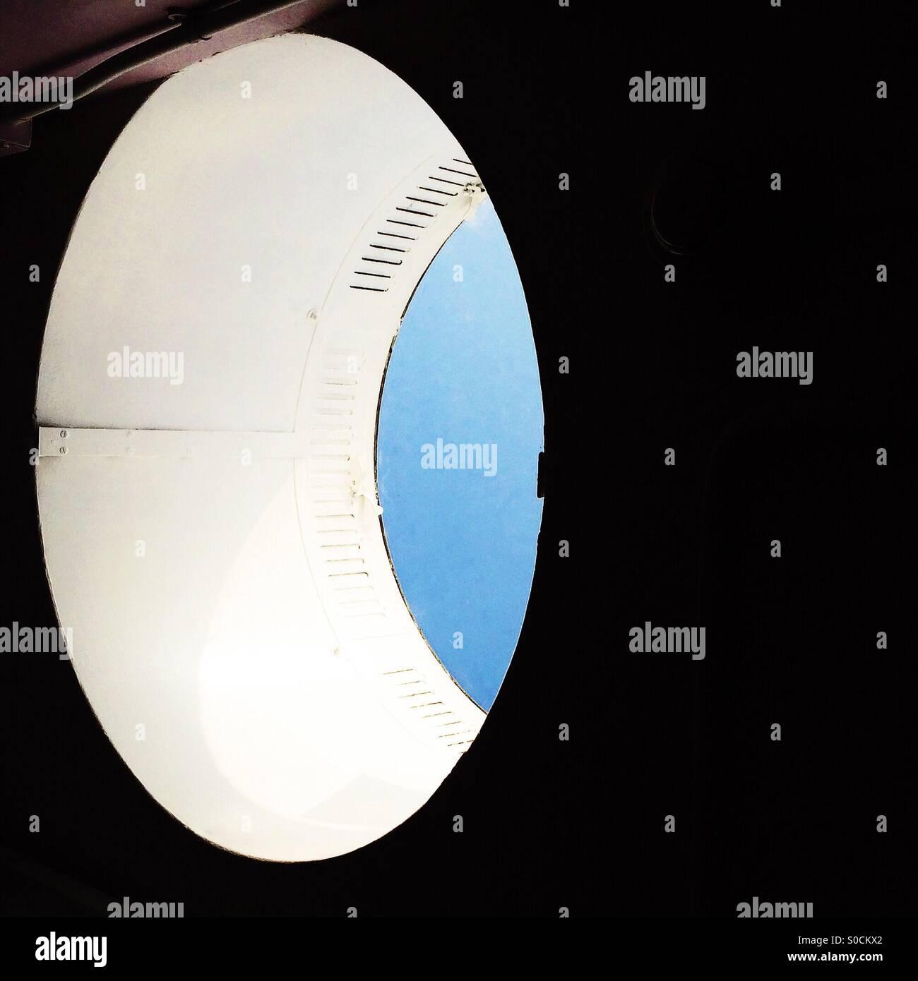 Puits de lumière elliptique abstrait Photo Stock