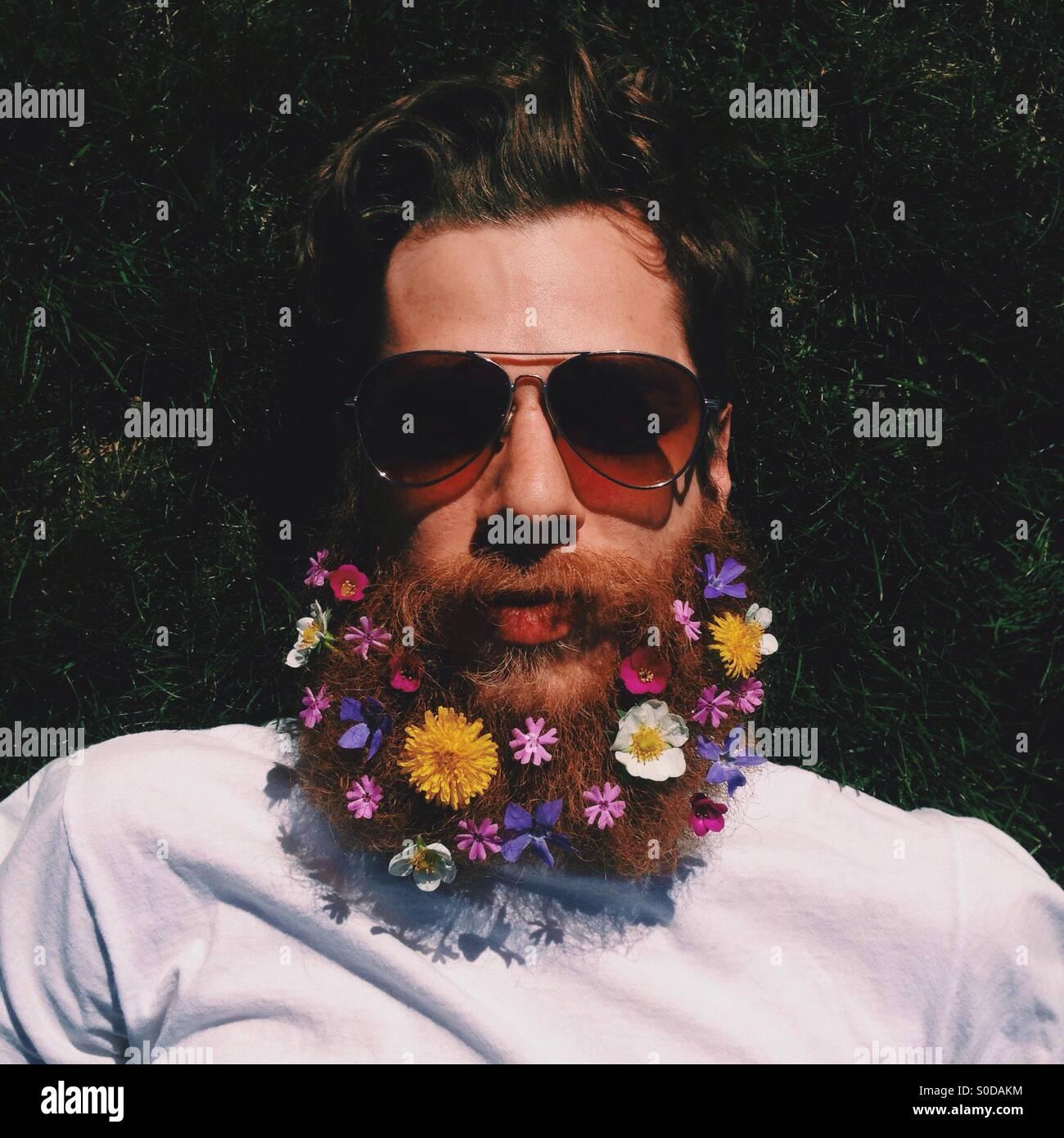 Barbe de fleur Photo Stock
