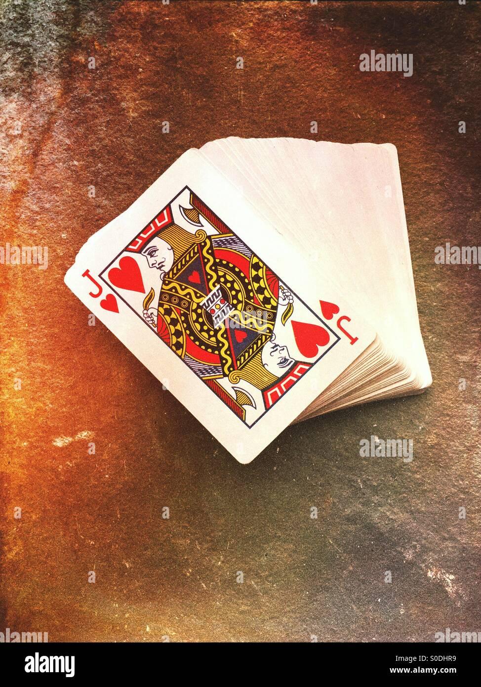 Le jeu des cartes à jouer Photo Stock