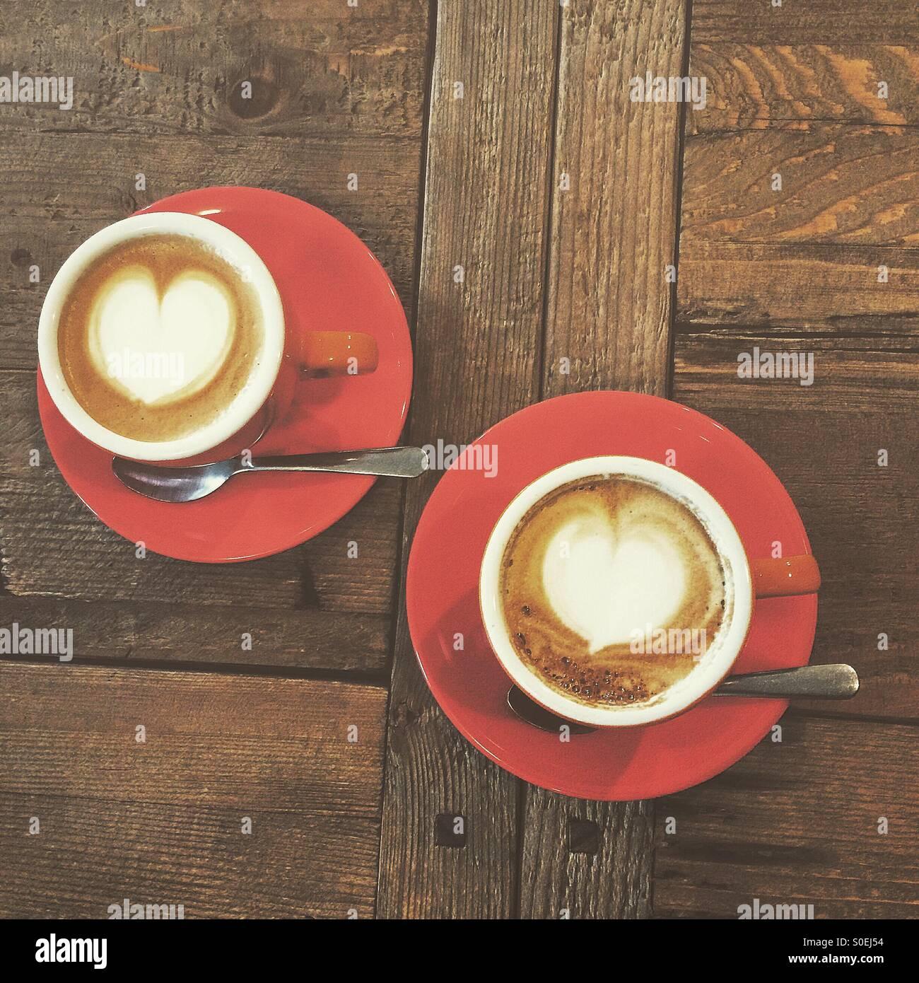 Café et l'amour Photo Stock