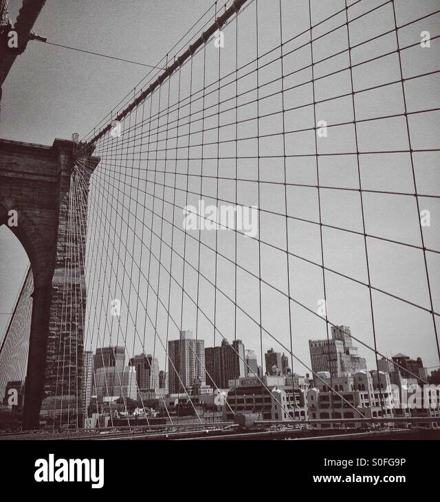 Pont de Brooklyn Banque D'Images