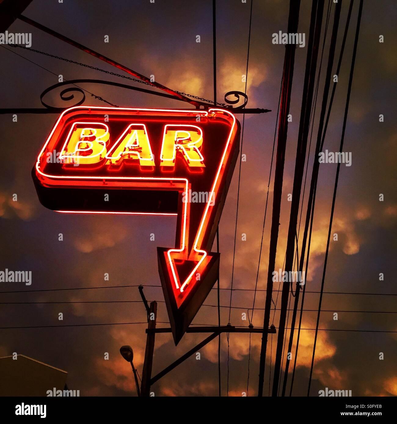 Bar de Philadelphie après une tempête Banque D'Images