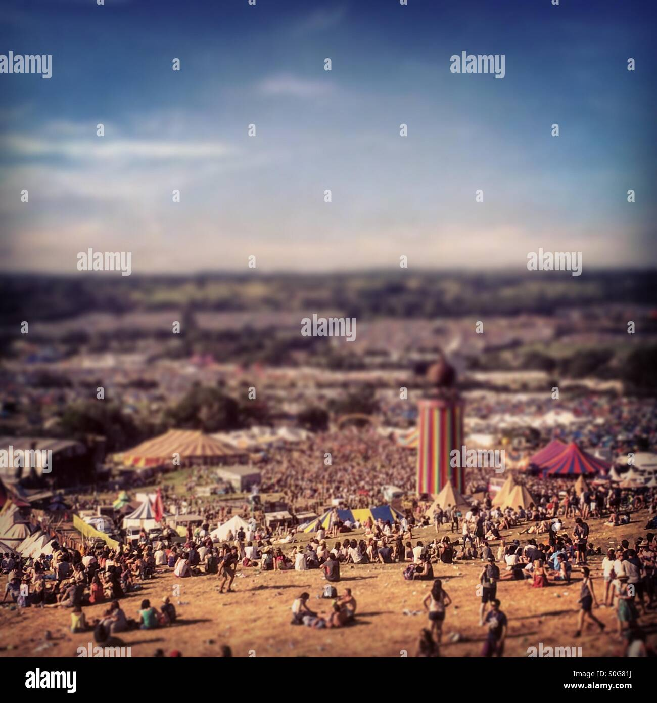 La zone du parc de Glastonbury Photo Stock