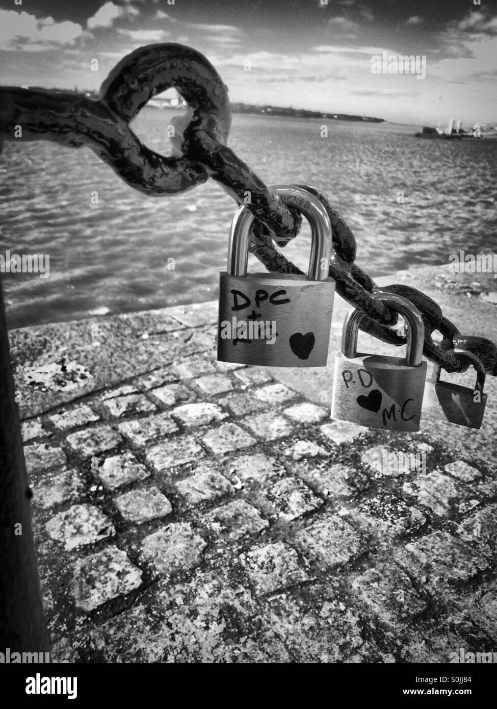 Serrures et dock Photo Stock