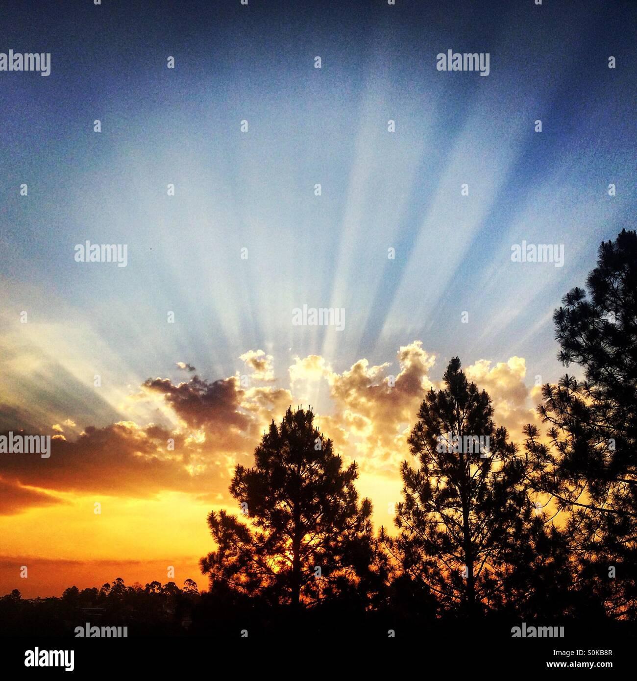 Coucher de soleil Photo Stock