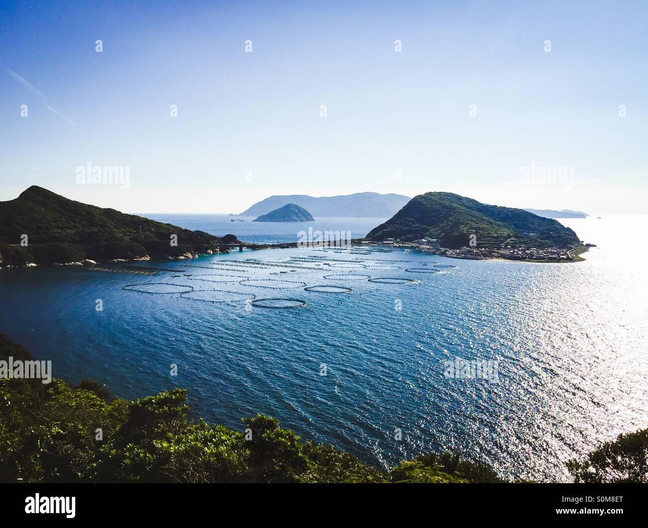 L'un de la région la plus au sud de Shikoku au Japon. C'est célèbre pour la plongée Photo Stock