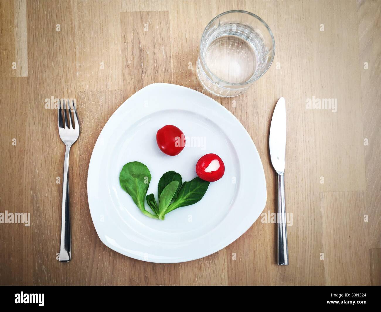 Cuisine végétalienne Photo Stock