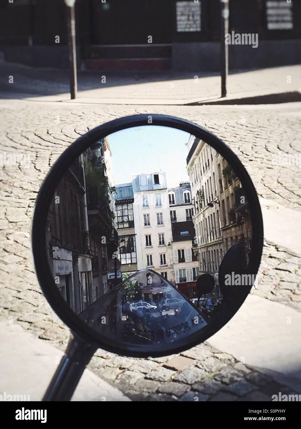 Scène de rue de Paris Banque D'Images