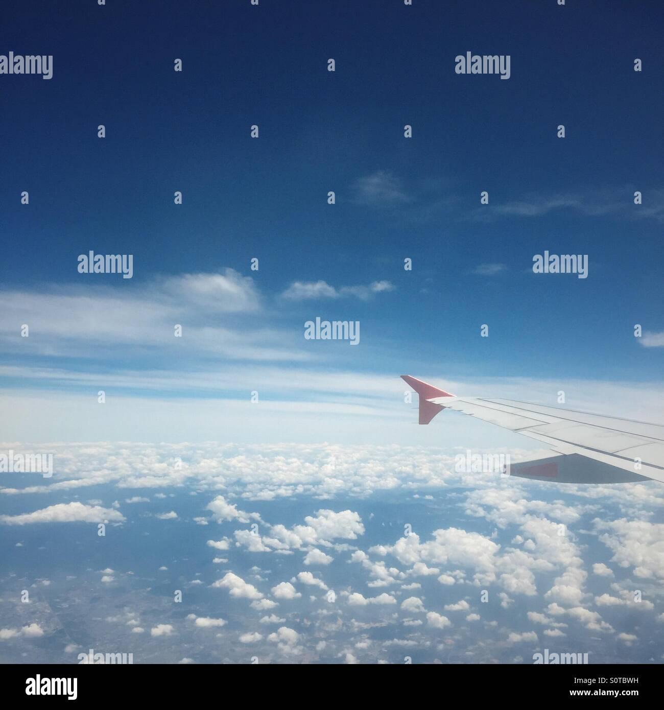 Vue depuis l'avion Banque D'Images