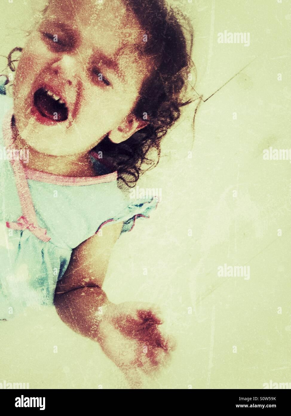 Crise de colère enfant Photo Stock
