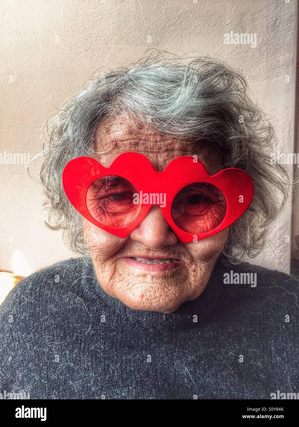 Granny drôle Photo Stock