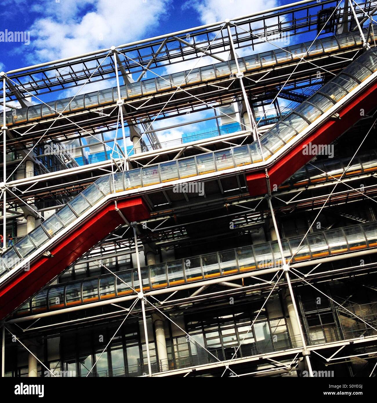 La structure du Centre Pompidou Photo Stock
