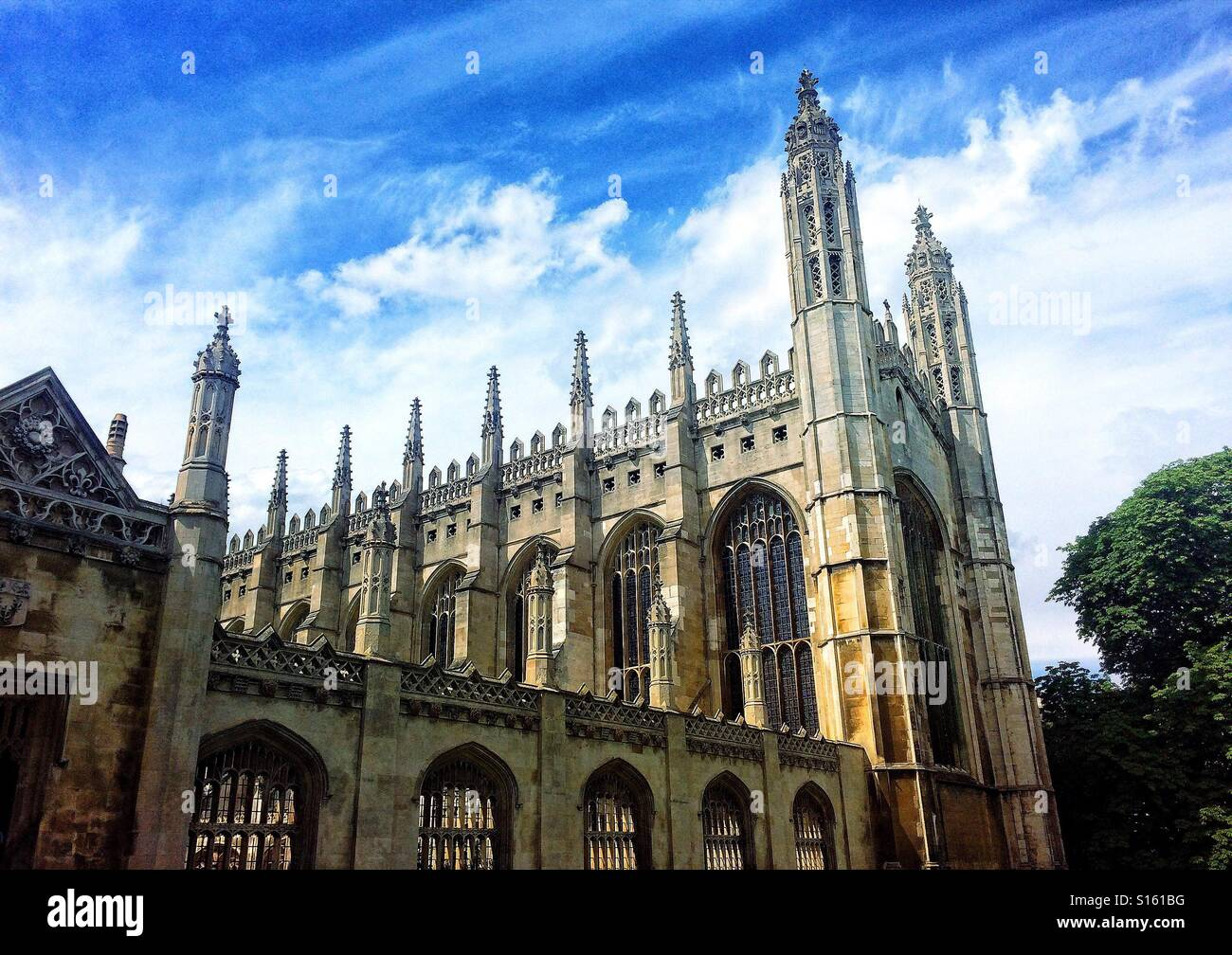 King's College, Université de Cambridge, Royaume-Uni Photo Stock