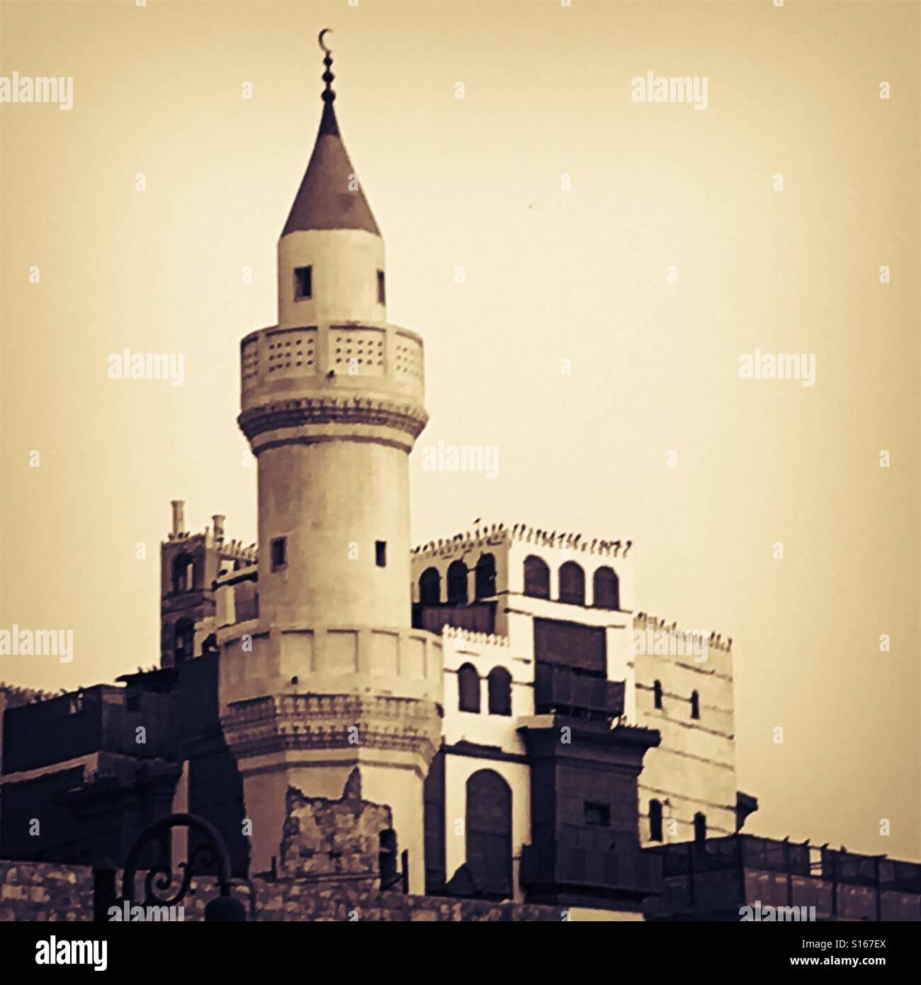 Mosquée de Jeddah, Arabie saoudite dans quartier historique Photo Stock