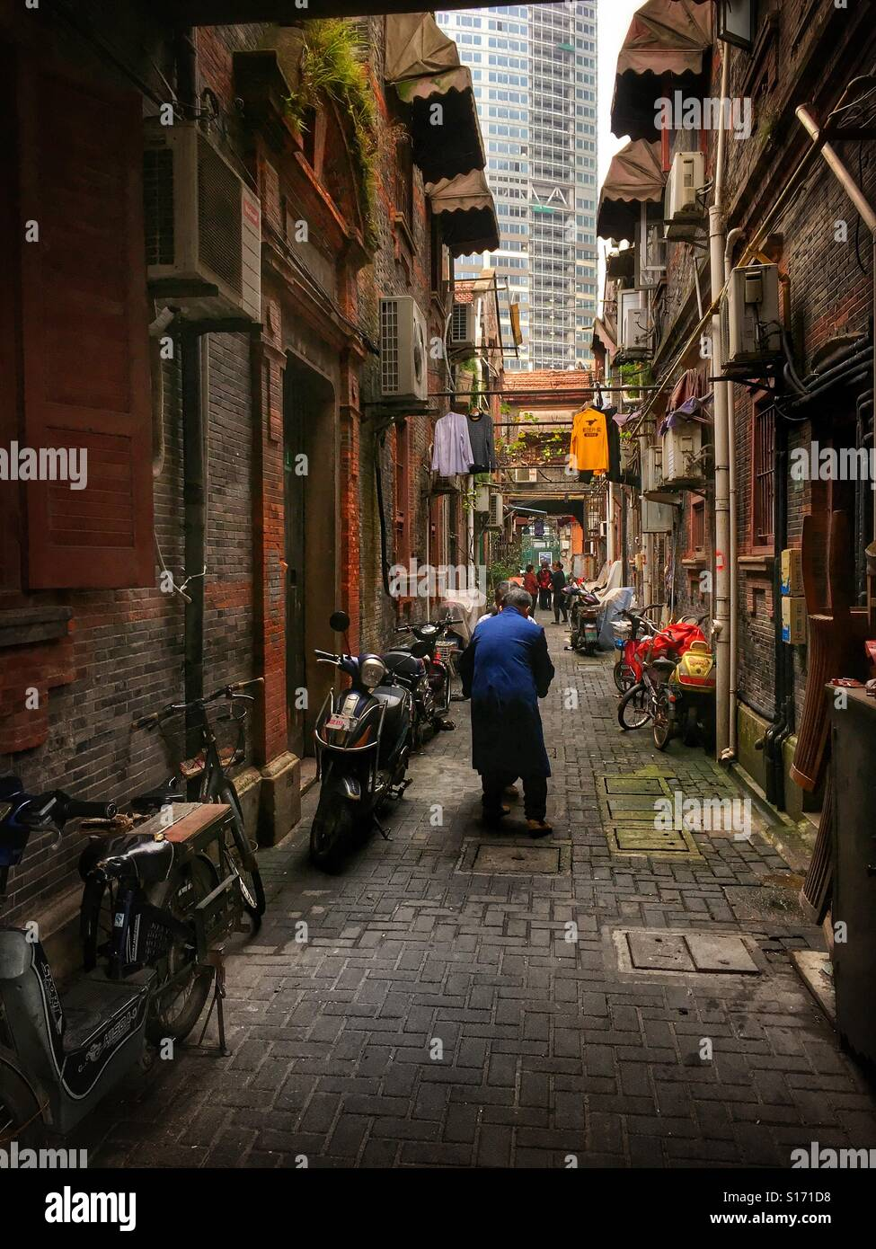 Les anciens temps à Shanghai Photo Stock