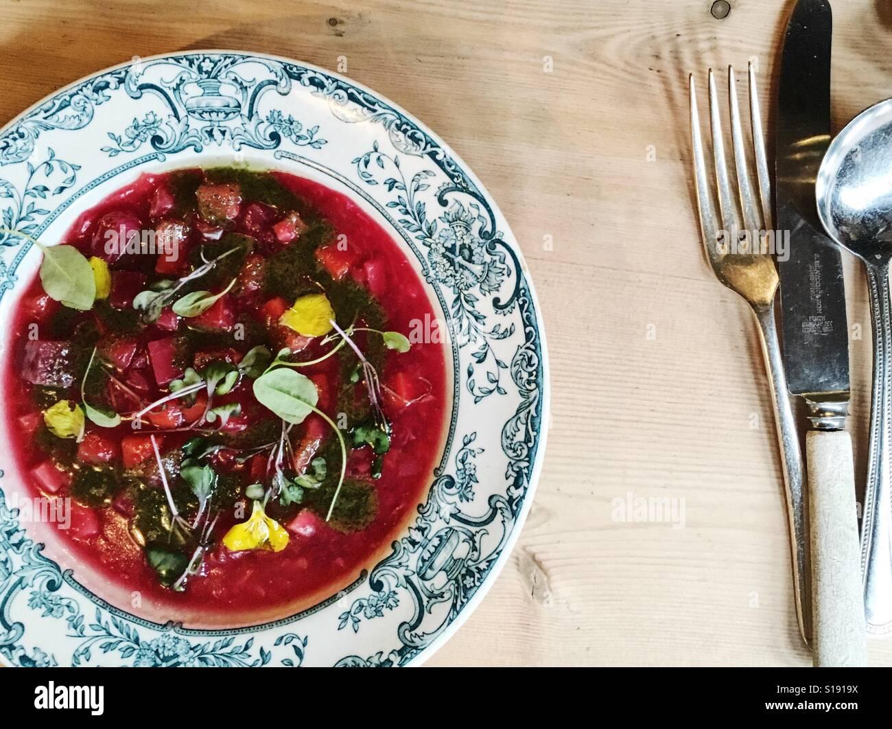 Soupe minestrone de légumes Photo Stock